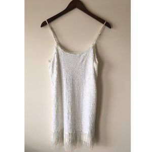 ASOS Brand White Sequin Dress / Size Small / NWT